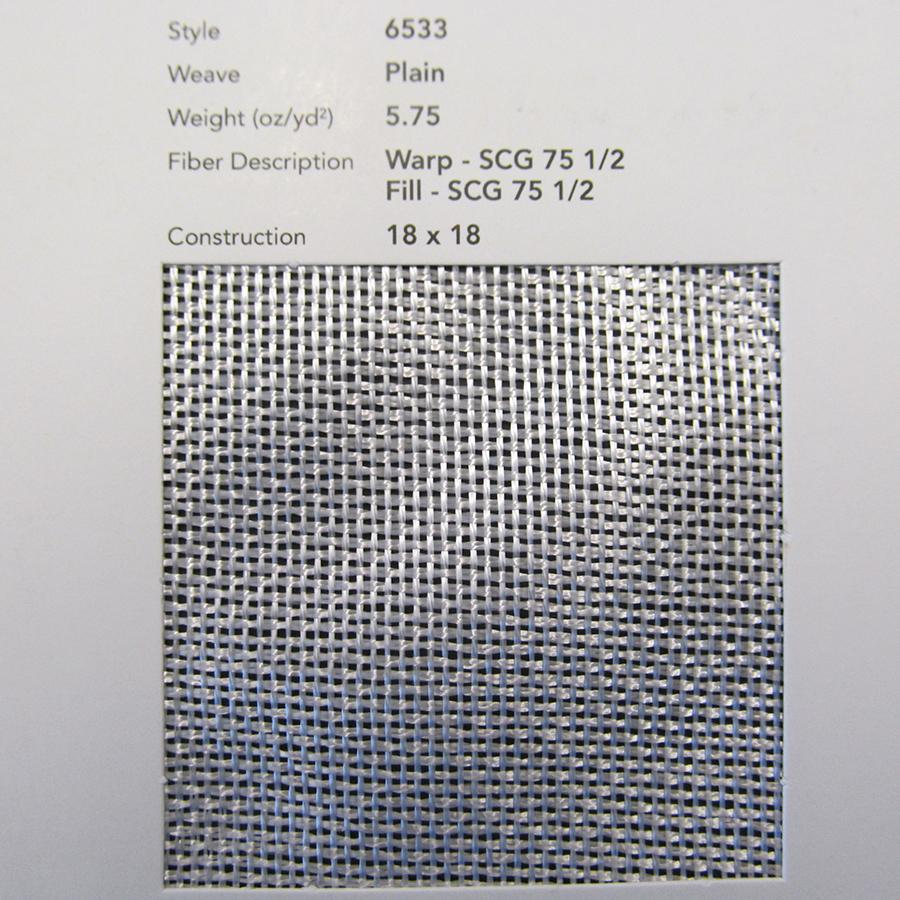 GLASS, CLOTH 6533 30 IN SILANE A218