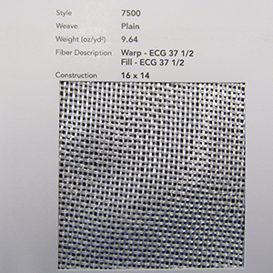 GLASS, CLOTH 7500 38 IN VOLAN I504