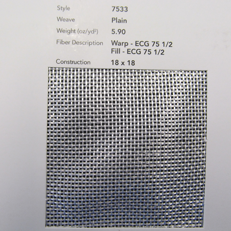 GLASS, CLOTH 7533 30 IN VOLAN