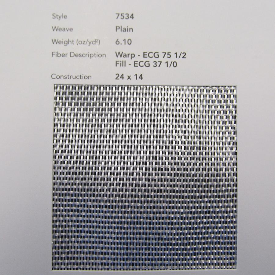 GLASS, CLOTH 7534 30 IN SILANE A218