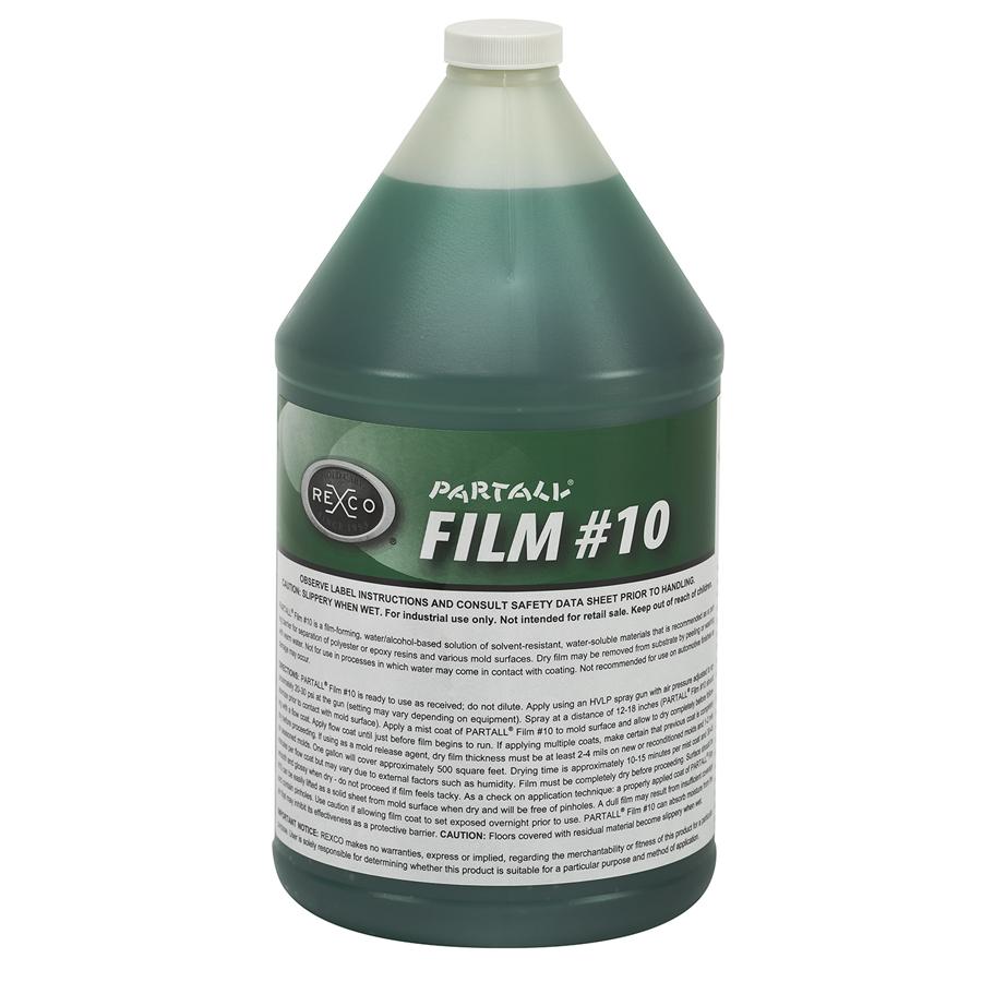 PARTALL FILM #10 GREEN (4 X 1 GA PER CASE)